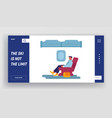 businessman passenger travel plane website vector image vector image