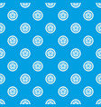 car wheel pattern seamless blue vector image vector image