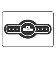 Champion belt icon 2 vector image vector image