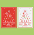 christmas and new year leaflet vector image