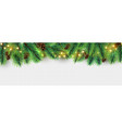 christmas border holiday garland isolated vector image