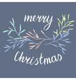 Christmas simple postcard vector image vector image