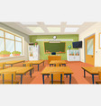 classroom at school or college for education vector image