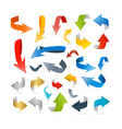 Colorful Abstract Arrows Set vector image vector image