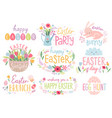 corona virus letterings and other elements vector image vector image