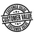 customer value round grunge black stamp vector image vector image