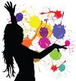 dancing girl silhouette vector image vector image