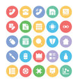 Design and Development Icons 6 vector image vector image