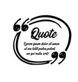 drawn quotes and a frame to highlight the frame vector image vector image