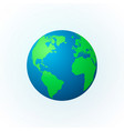earth in the form of a globe planet icon vector image