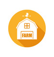 emblem with farm house vector image vector image