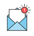 envelopes icons with a picture a closed letter vector image