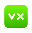fat tick and cross icon digital green vector image vector image