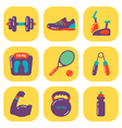 Fitness Icons Flat vector image vector image