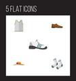 flat icon dress set of elegant headgear singlet vector image