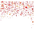 Flying heart confetti for vector image vector image