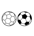 football ball sports activity play competition vector image vector image