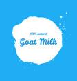 goat natural milk splash sign vector image vector image