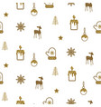 gold and white new year simple icon holiday vector image vector image