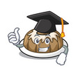 graduation bundt cake character cartoon vector image vector image