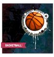 grunge basketball vector image vector image