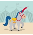 Horse icon Circus and Carnival design vector image