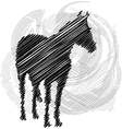 horse running vector image vector image