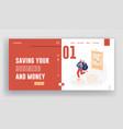 investment trading finance risk website landing vector image vector image