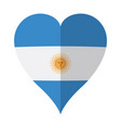 isolated flag of argentina on a heart shape vector image