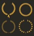 laurel wreath set laurel wreaths vector image vector image