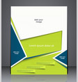 layout business brochure magazine cover vector image vector image