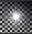 light sun rays vector image vector image