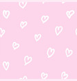 lovely pink pattern vector image vector image