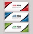 modern abstract banner template website banner vector image vector image