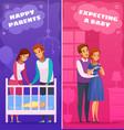 pregnancy newborn cartoon banners vector image vector image
