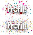 Profit paper banners vector image