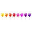 Realistic colorful glossy flying air balloons set