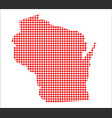 red dot map of wisconsin vector image