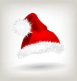 red santa hat party icon head background vector image vector image