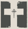 religious banner with cross and crown of thorns vector image vector image