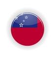 Samoa icon circle vector image vector image