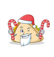 santa with candy sandwich character cartoon style vector image