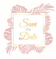 save date border frame card template exotic vector image vector image