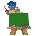 school chalkboard with owl teacher vector image vector image