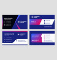 set business card templates stationery design vector image vector image