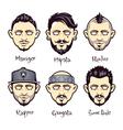set modern mens hairstyles vector image
