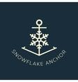 Snowflake Anchor Concept Symbol Icon or Logo vector image vector image