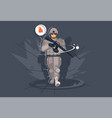 soldier with a rifle military uniform vector image