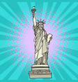 statue of liberty new york america vector image