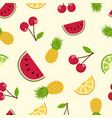 summer tropical fruit seamless pattern art vector image vector image